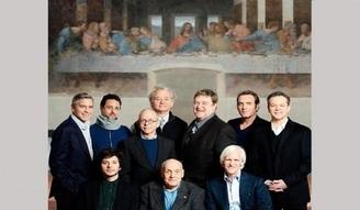 """George Clooney molesta por su foto junto a """"La última cena"""""""