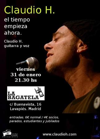 Claudio H en concierto, por Agenda Magenta