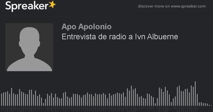 Entrevista de radio a Iván Albuerne (hecho con Spreaker)